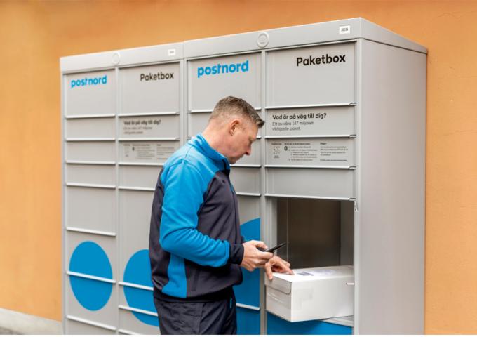 Paketbox postnord i Utopia